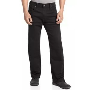 Black Levi's 569 Relaxed Fit Straight Jeans 40x30